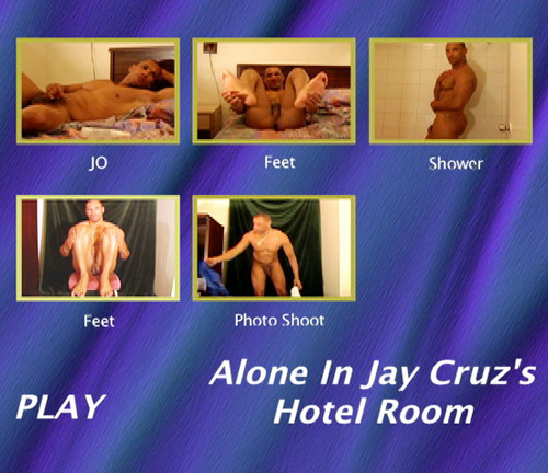 Alone In Jay Cruz's Hotel Room-gay-dvd-menu