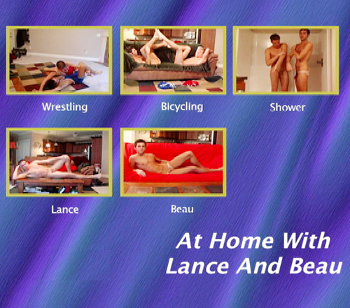 At Home With Lance And Beau-gay-dvd-menu