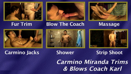Carmino-Miranda-Trims-&-Blows-Coach-Karl-gay-dvd