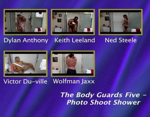 The-Body-Guards-Five---Photo-Shoot-Shower--with-Conversation-gay-dvd