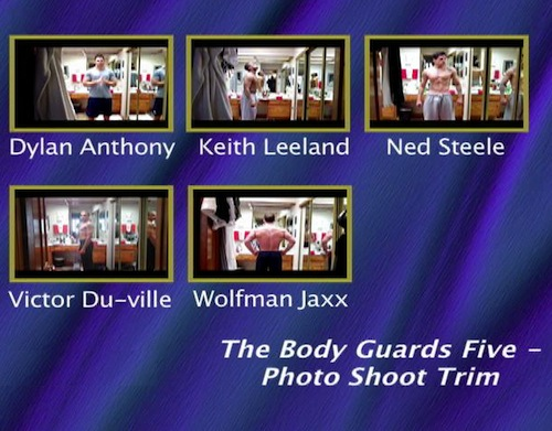 The-Body-Guards-Five---Photo-Shoot-Trim--with-Conversation-gay-dvd
