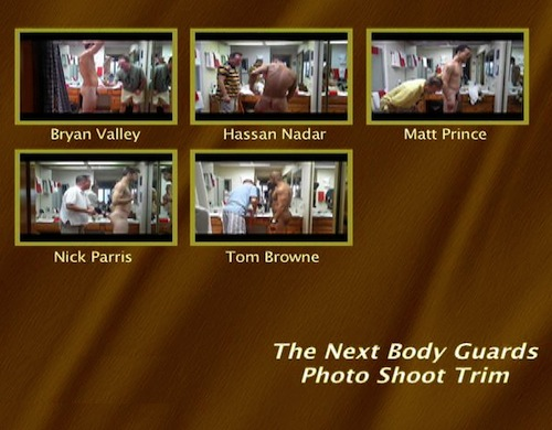 The-Next-Body-Guards-Photo-Shoot-Trim--with-Conversation-gay-dvd