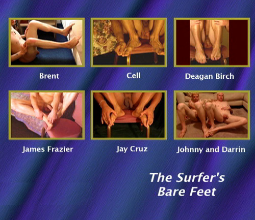 The Surfer's Bare Feet-gay-dvd-menu