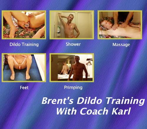 BrentsDildoTrainingWithCoachKarl Brent's Dildo Training With Coach Karl gay dvd menu
