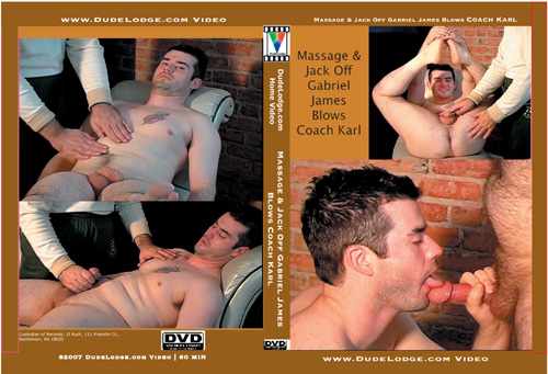 Massage & Jack Off Gabriel James Blows Coach Karl-gay-dvd
