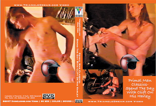 Primal Man Classics- Spend The Day With Clift On His Harley-gay-dvd