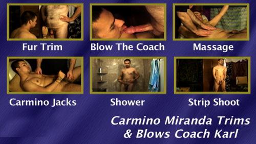 Carmino-Miranda-Trims-&-Blows-Coach-Karl-gay-dvd