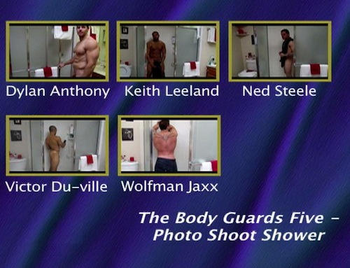 The-Body-Guards-Five---Photo-Shoot-Shower-gay-dvd