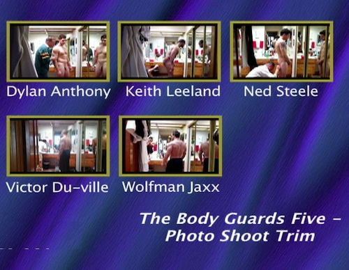 The-Body-Guards-Five---Photo-Shoot-Trim-gay-dvd