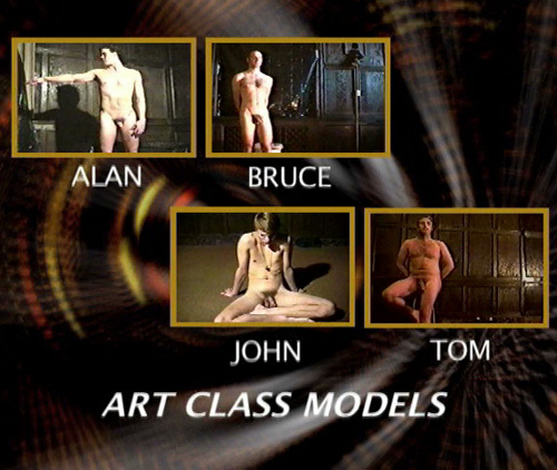 Husband and wife posing naked for an art class